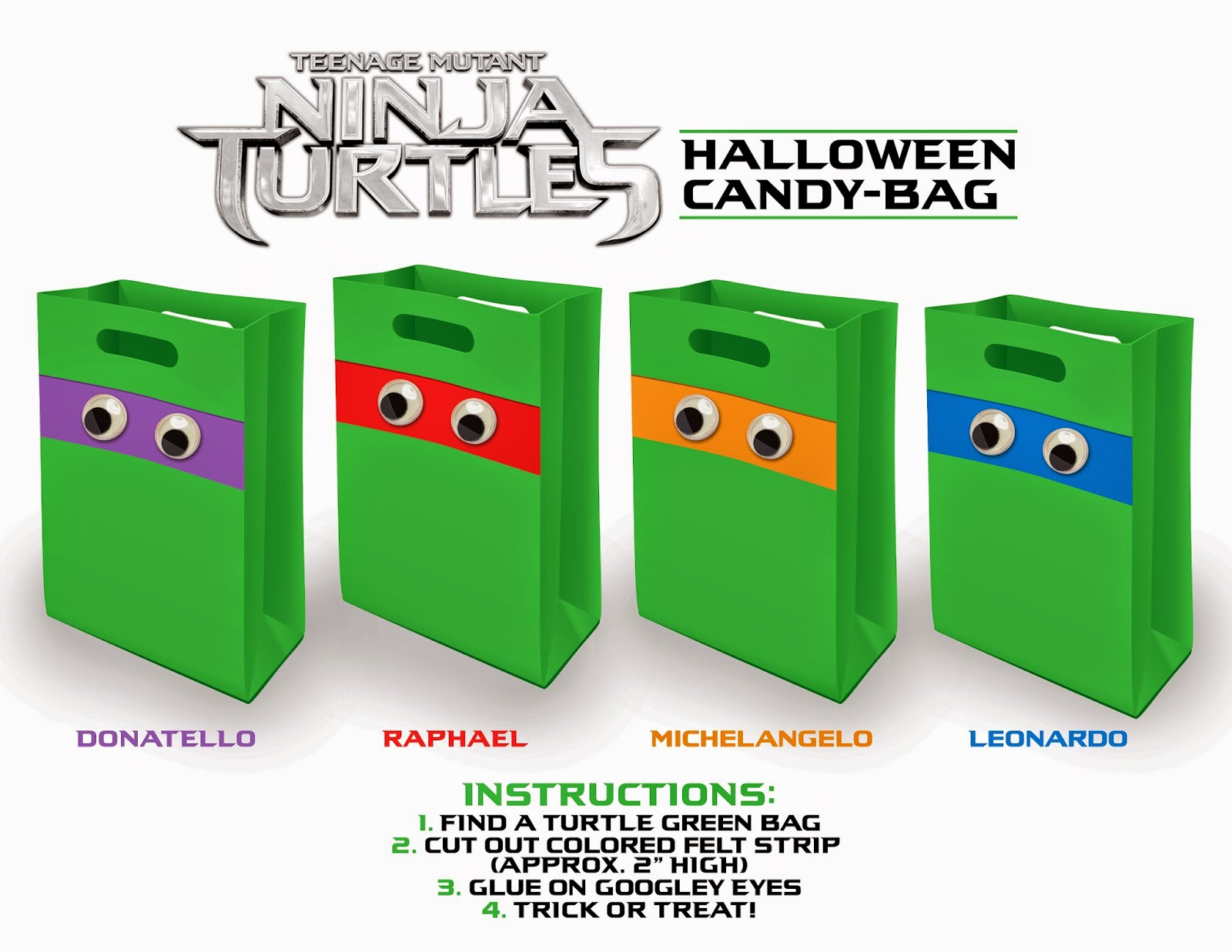 4a0ddcba68e9 Are you or your kids Teenage Mutant Ninja Turtles fans  Check out these fun  and great DIY treat bags