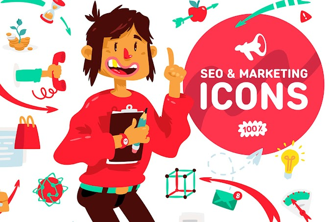 Icons and illustrations for SEO and marketing