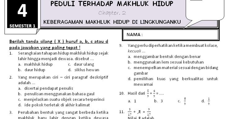 Download Soal Kelas 4 Tema 3 Subtema 2 Rief Awa Blog Download Kumpulan Soal Ujian Sd Terbaru