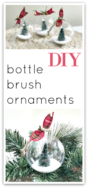 Bottle brush ornament pin with overlay