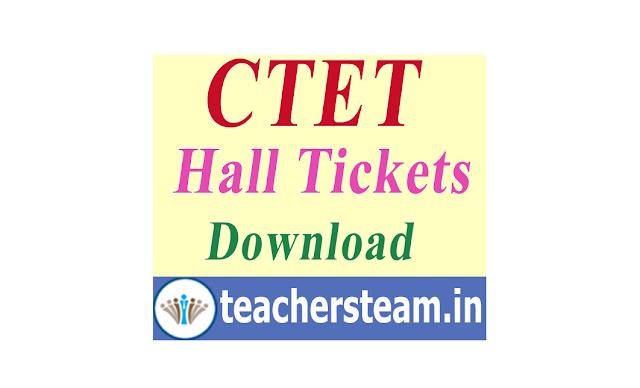 Download CTET Hall Tickets