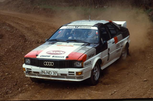 An Early Audi Quattro Rally Car