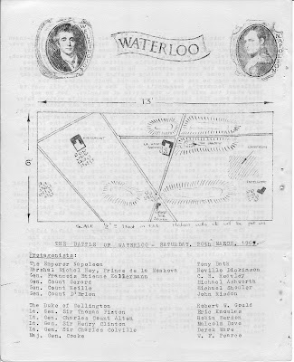 More on the 1965 Waterloo War Game at the DoY's HQ, Chelsea