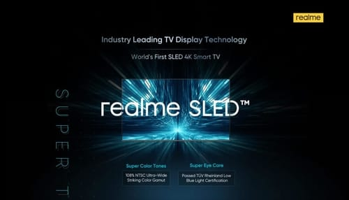 Realme announces the world's first SLED TV