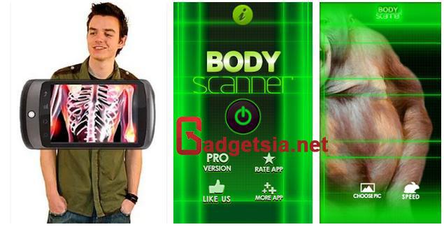 Aplikasi Kamera Tembus Pandang - Body Scanner Free Prank
