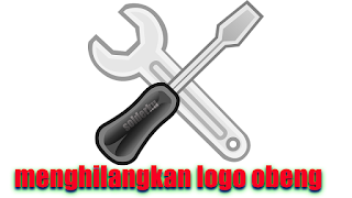 5 langkah cara menghilangkan logo obeng dan tang di blog