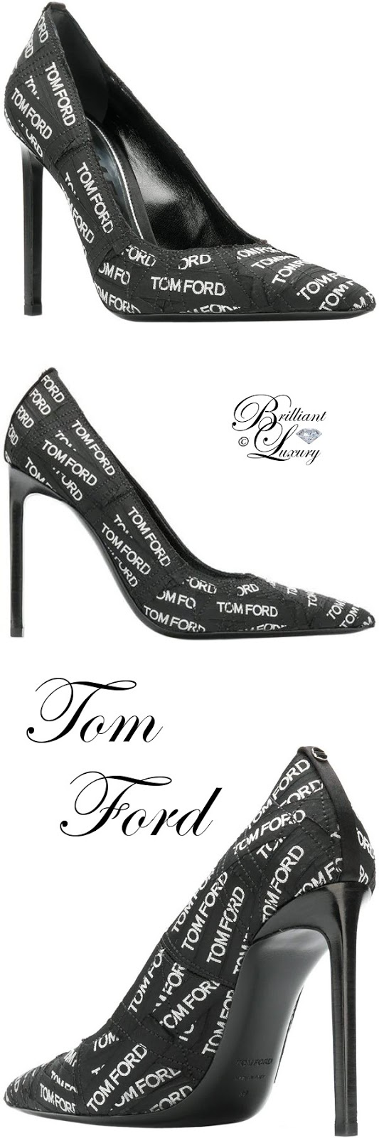 Brilliant Luxury ♦ Tom Ford all over logo pumps #black