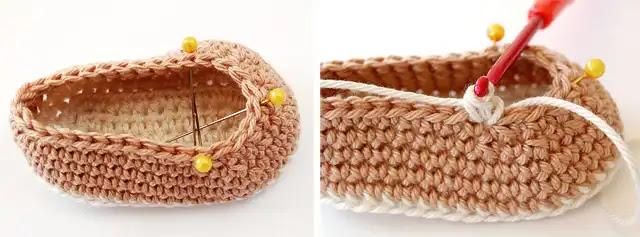 Paso a paso botita para bebé a crochet