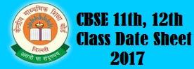 CBSE 12th Class Date sheet 2017