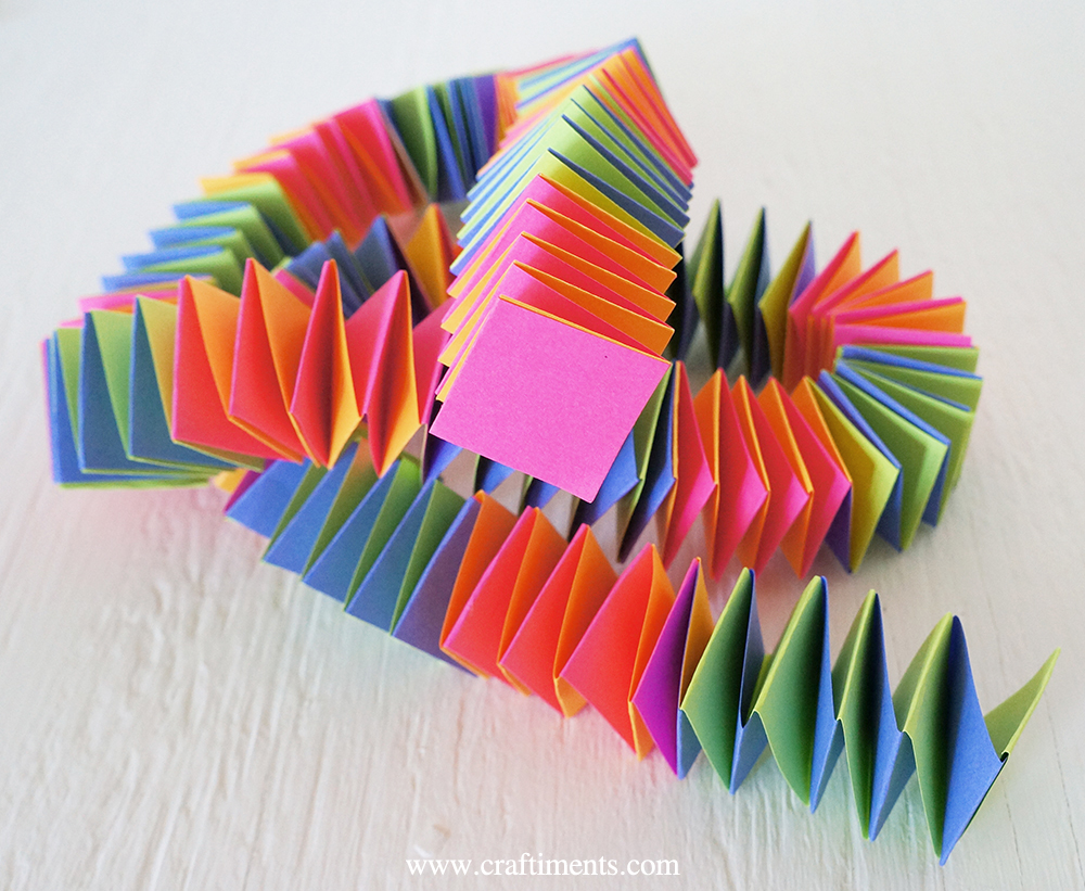 accordion fold paper garland