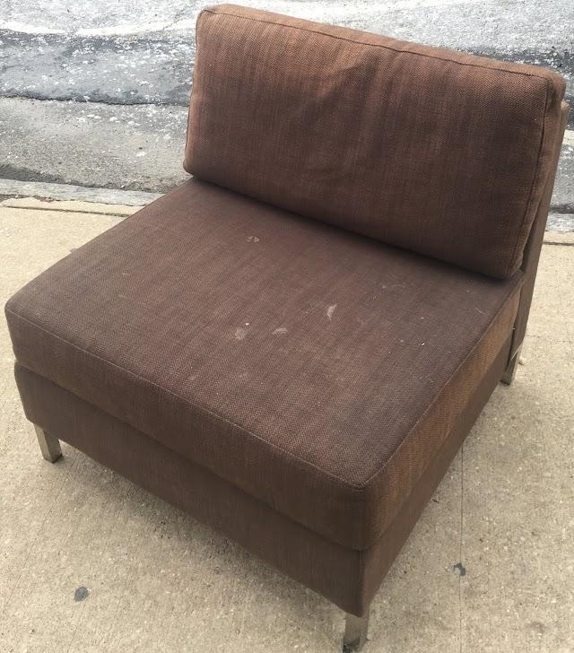 West Elm Armless Chair $75