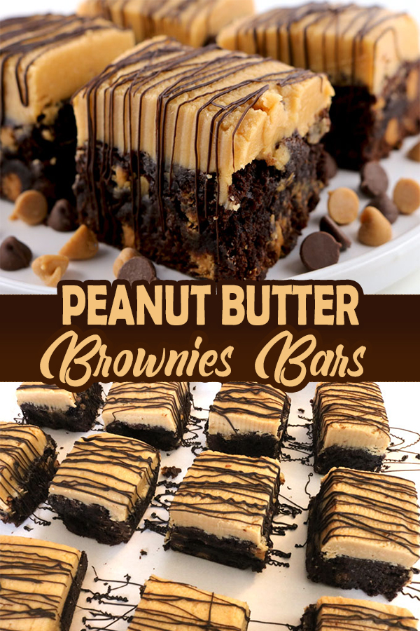 PEANUT BUTTER BROWNIE BARS |