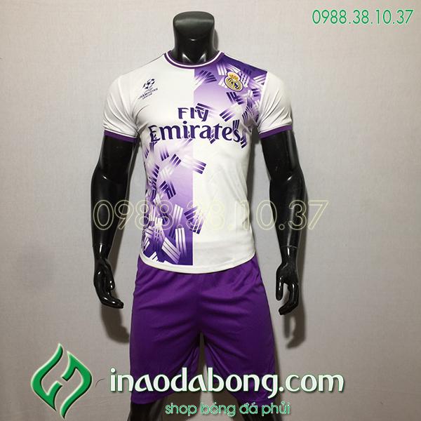 Áo bóng đá training CLB Real màu trắng 2020