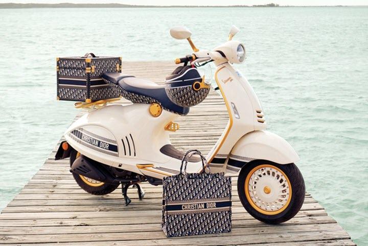 Vespa 946 bản đặc biệt kết hợp cùng thương hiệu Dior