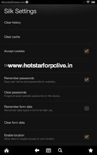 Home screen, select the 'Settings' option