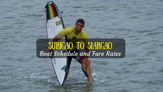Surigao to Siargao Boat Schedule