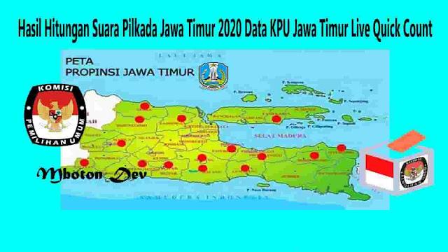 Hasil Hitungan Suara Pilkada Jawa Timur 2020 Data KPU Jawa Timur Live Quick Count