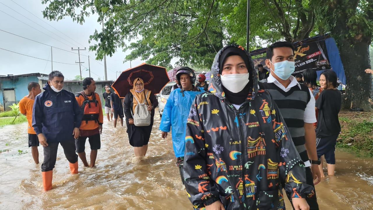 Banjir Di Maros, Wabub Suhartina Himbau Warga Tetap Waspada