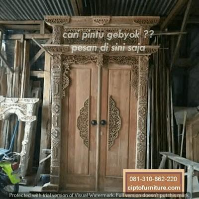 Pintu Gebyok Untuk Rumah Minimalis