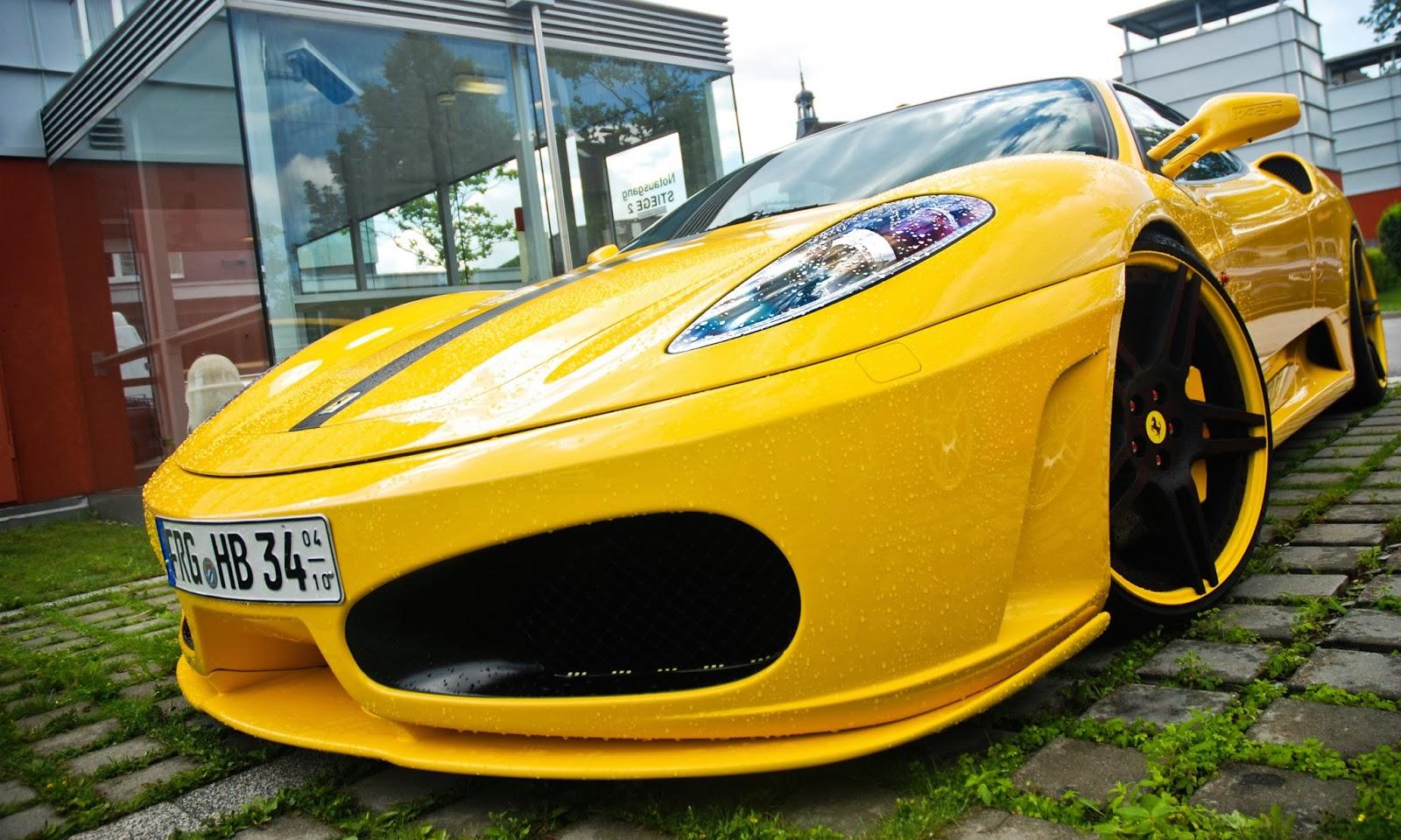 Get Ferrari F430 Wallpaper Yellow  Gif