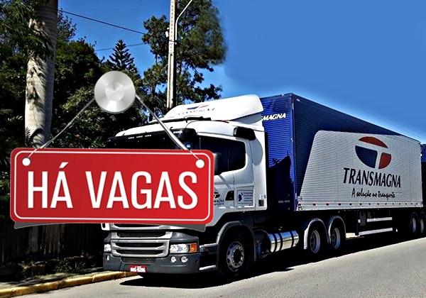TransMagna abre vagas para Motorista Carreteiro.