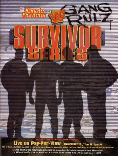 WWF / WWE - Survivor Series 1997 - Event poster