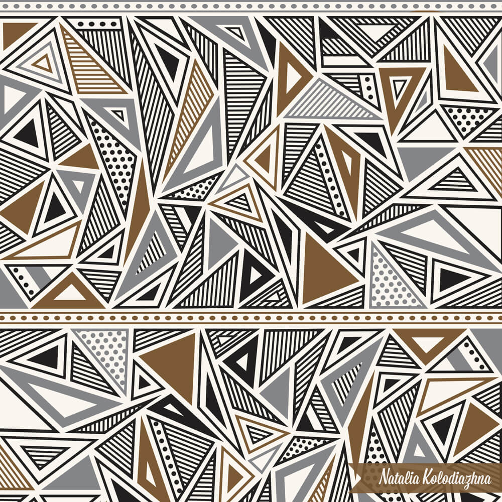 Gorgeous geometric pattern design by Natalia Kolodiazhna
