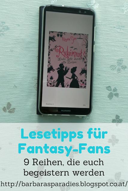 Lesetipps für Fantasy-Fans: 9 Reihen, die euch begeistern werden - Edelstein-Trilogie von Kerstin Gier