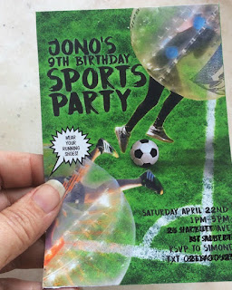 Bumper Ball Sports Party Invitation available on my Etsy Shop