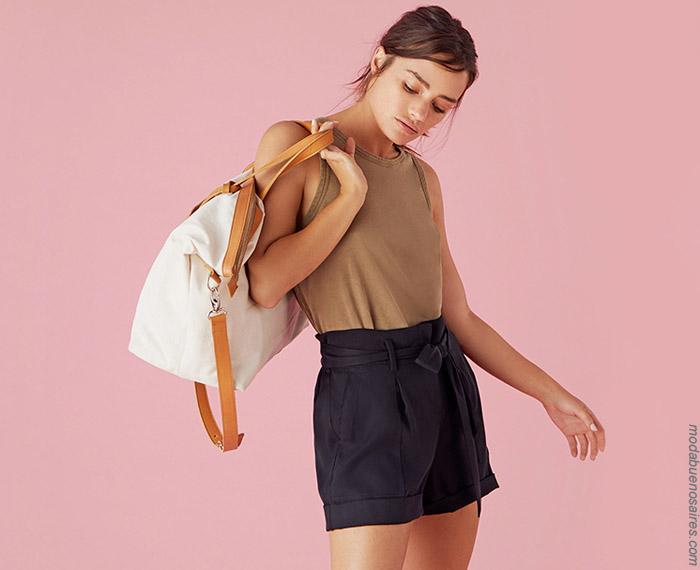 Shorts de moda mujer primavera verano 2020-