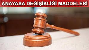 KPSS Güncel Anayasa Değişiklikleri nelerdir?