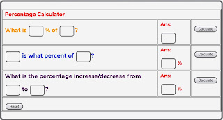 Percentage Calculator, How To Calculate Percentage, How To Convert Percentage To Decimal, How To Convert Decimal To Percentage, How To Calculate Percentage Change, How To Calculate Percentage Increase, How To Calculate Percentage Decrease, How To Calculate Percentage Discount, How To Calculate Percentage From CGPA, How To Calculate CGPA From Percentage, How To Calculate Percentage Error