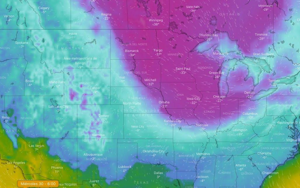 Si teme una Catastrofe per il gelo polare negli Stati Uniti.