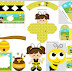 Baby Dressed as Bee: Free Party Printables, Invitations and Boxes.
