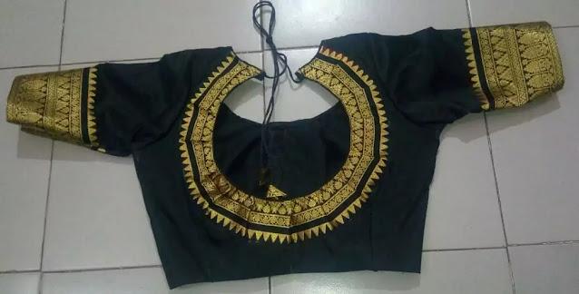 Round Neck Blouse Design