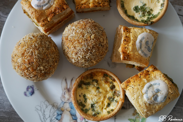 Savoury treats in the Piglet's Pantry Vegetarian Afternoon Tea