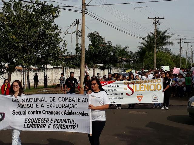 Caminhada em Cajobi exige o fim da violência sexual contra crianças e adolescentes