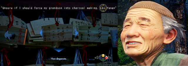 """Unsure if I should force my grandson into charcoal making. - Lei Yanan"""