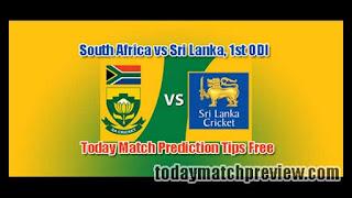 1st ODI SL vs RSA Today Match Prediction