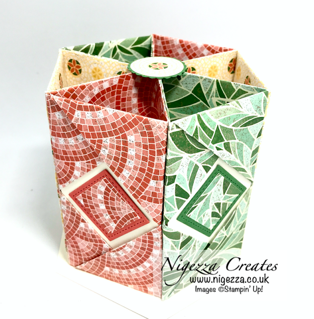 Mosaic Mood Desk Tidy Origami Stampin Up