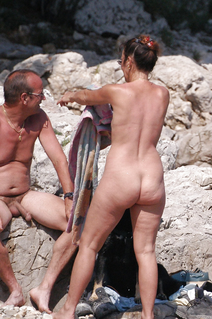 Old Men At Nude Beach