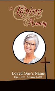 printable memorial obituary template