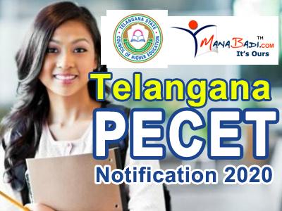 Telangana PECET Notification 2020