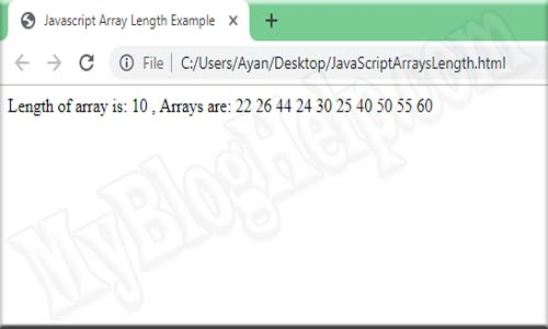 JavaScript Array Length example