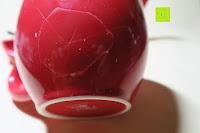 Sprung in Tasse: Porzellan Teekannenservice von Original First Tea (Rot)