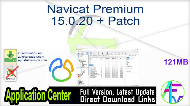 Navicat Premium 15.0.20 + Patch