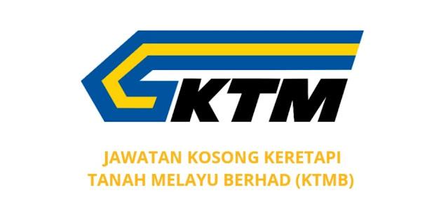 Jawatan Kosong KTMB 2021 Keretapi Tanah Melayu Berhad