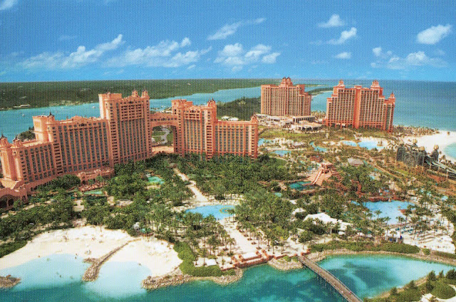 Atlantis Paradise Island Bahamas  vue aérienne.