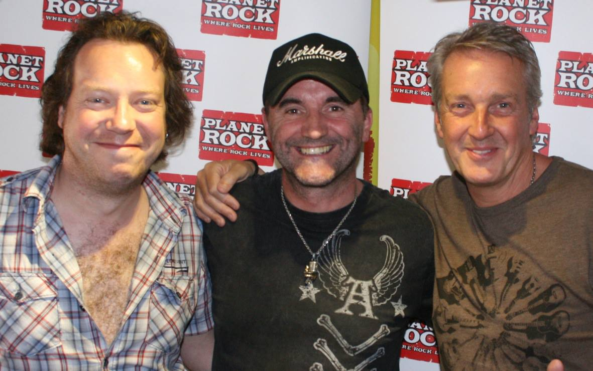 FM - Steve Overland and Jim Kirkpatrick with Paul Anthony at Planet Rock studio
