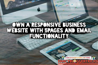 Own a responsive business website with email functionality